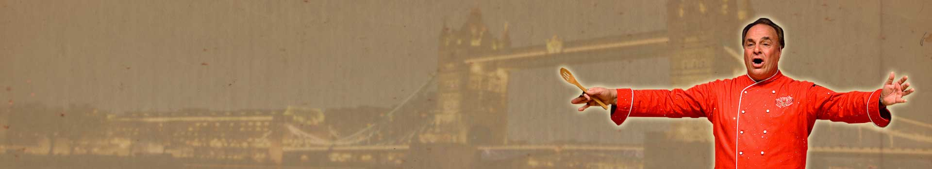 London Bridge behind Andy LoRusso