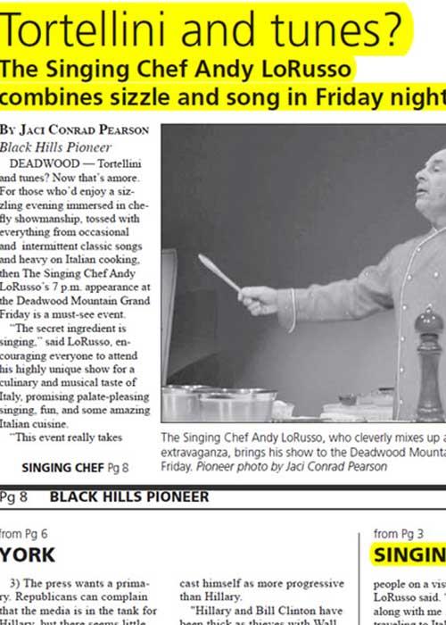 Tortellini and Tunes Newpaper Article