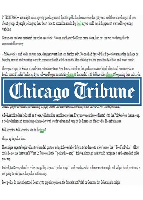 Andy in the Chicago Tribune