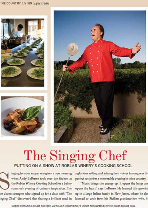 Putting on a Show at Roblar Winery's Cooking School
