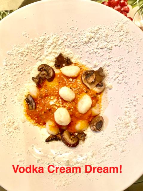 Gnocchi Cremini Mushrooms In Vodka Cream Sauce With Ricotta